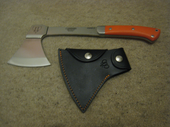 166J Cudeman Tonka Orange Weighted Survival Axe