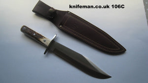 106C Cudeman Huge 15 Inch Stag Bowie Knife