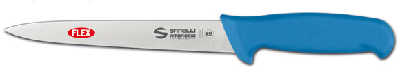 Blue Flexible Filleting Knife 18cm From The Supra Range By Sanelli Ambrogio