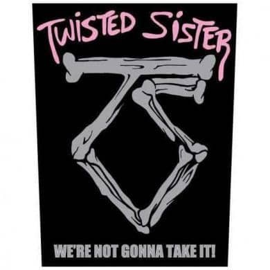 Backpatch Twisted Sister - Bravado - Fatima.Dk