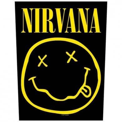 Backpatch Nirvana Smiley - Bravado - Fatima.Dk
