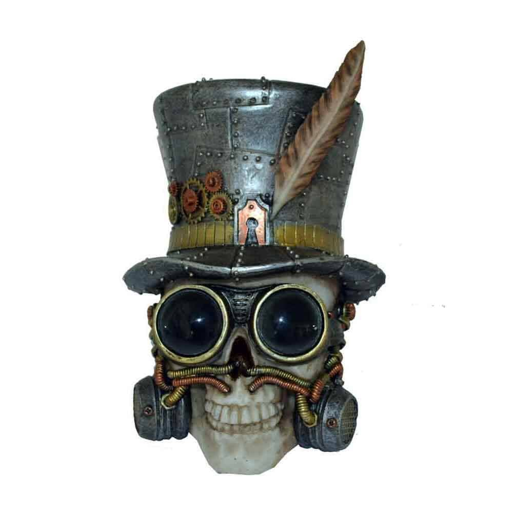 Kranie / Skull Steampunk Top Hat
