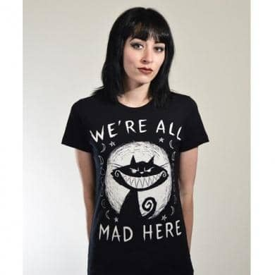 T-shirt Akumu We Are All Mad Here - Akumu ink - Fatima.Dk