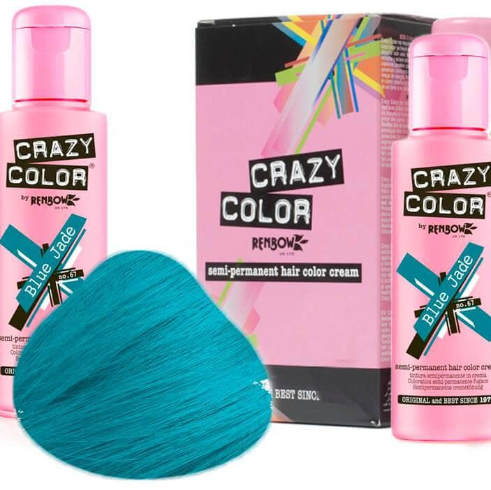 Crazy Color Hårfarve Blue Jade (100ml) - Crazy Color - Fatima.Dk