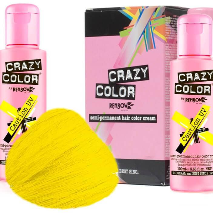 Crazy Color Hårfarve Caution UV (100ml) - Crazy Color - Fatima.Dk