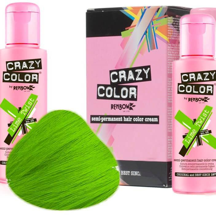 Crazy Color Hårfarve Lime Twist (100ml) - Crazy Color - Fatima.Dk