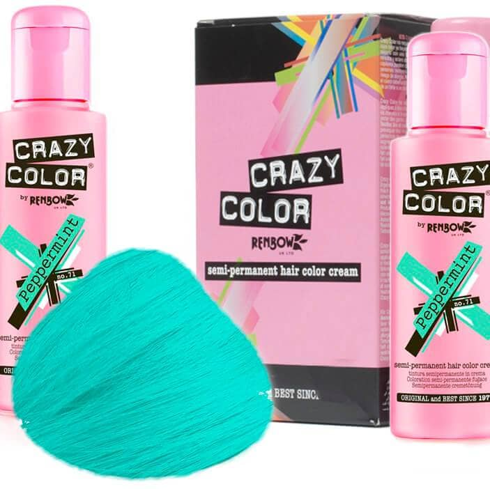 Crazy Color Hårfarve Peppermint (100ml) - Crazy Color - Fatima.Dk