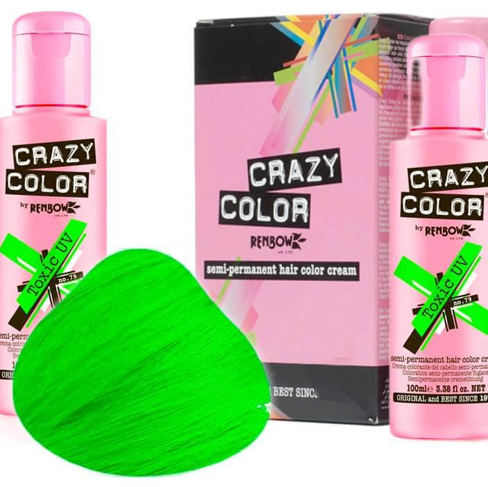 Crazy Color Hårfarve Toxic UV (100ml) - Crazy Color - Fatima.Dk