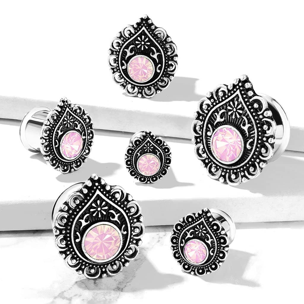 Plugs Stretch Pink Queen - 316L Kirurgisk Stål
