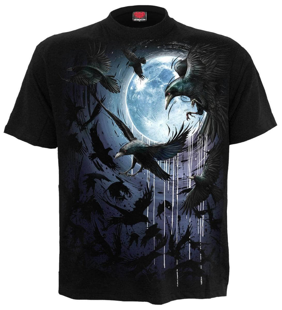 T-shirt Spiral Crow Moon