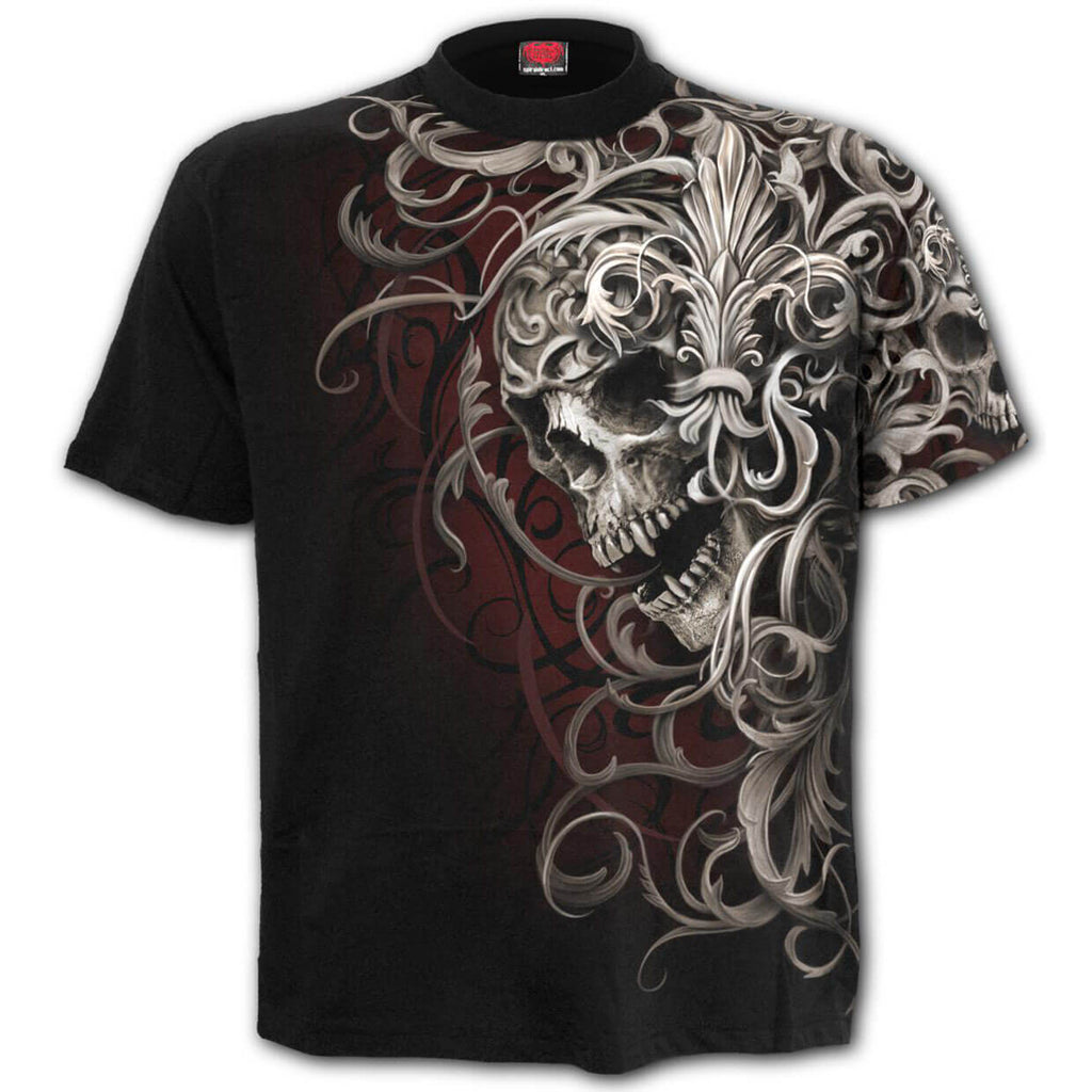 T-shirt Spiral Skull Shoulder