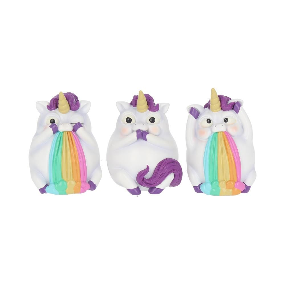Three Wise Pukicorns Figur (8.5cm)
