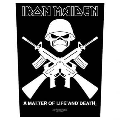 Backpatch Iron Maiden - Bravado - Fatima.Dk