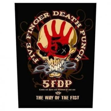 Backpatch Five Finger Death Punch The Way of the Fist - Bravado - Fatima.Dk