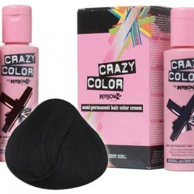 Crazy Color Hårfarve Black (100ml) - Crazy Color - Fatima.Dk
