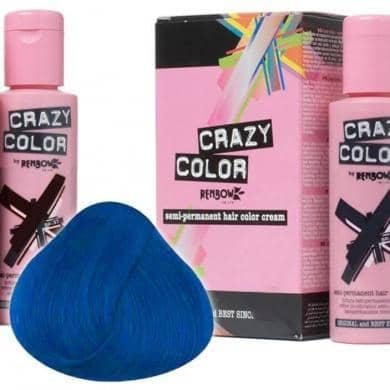 Crazy Color Hårfarve Sky Blue (100ml) - Crazy Color - Fatima.Dk