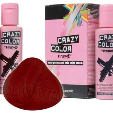 Crazy Color Hårfarve Vermillion Red (100ml) - Crazy Color - Fatima.Dk