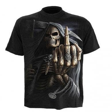 T-shirt Spiral Bone Finger T-shirt Spiral Bone Finger