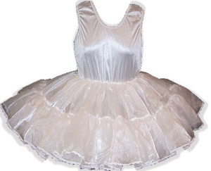 Custom Fit Full Slip Crinoline Petticoat for Adult Little Girl Baby Sissy Dress up