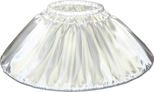 Custom Fit White Satin Mini Hoop Skirt Crinoline Petticoat for Adult Sissy Dress up