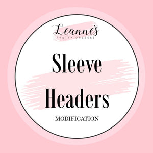 Add Sleeve Headers to Your Custom Fit Dress