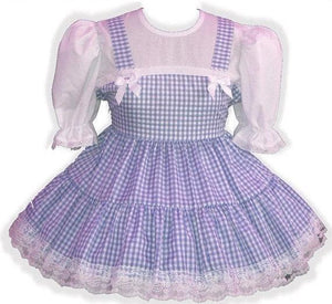 Macy Custom Fit Gingham Adult Little Girl Baby Sissy Dress by Leanne's