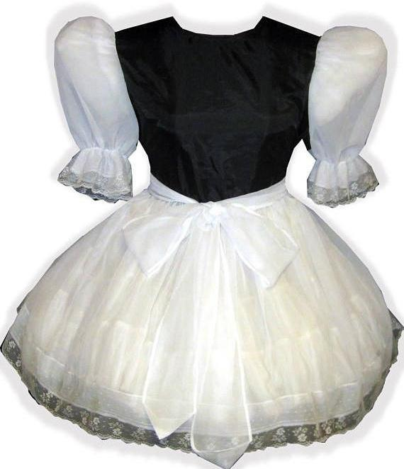 Brooklyn Custom Fit Satin & Chiffon Adult Sissy Baby Dress with Sash by Leanne's