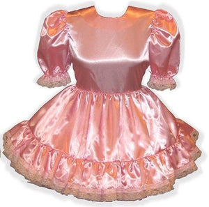 Misty Custom Fit Basic Satin Adult Little Girl Baby Sissy Dress by Leanne's