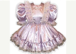 Donna Custom Fit Lavender Satin Ruffles Adult Little Girl Baby Sissy Dress by Leanne's