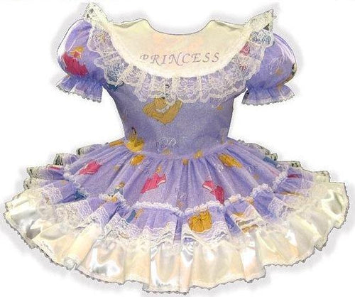 Sarah Custom Fit Lavender Glitter Princess Adult Little Girl Sissy Dress by Leanne's