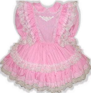 Linda Custom Fit Pink Lacy Ruffles Adult Baby Little Girl Sissy Dress by Leanne's