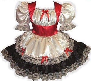 Custom Fit Holiday Swiss Maid Adult Baby Sissy Dress by Leanne's