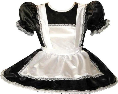 Maryette Custom Fit Lacy Satin French Maid Adult Little Girl Sissy Baby Dress by Leanne's