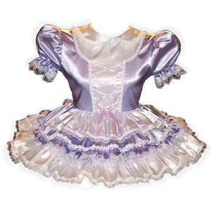 Afton Custom Fit Lacy Satin Adult Baby Little Girl Sissy Dress by Leanne's