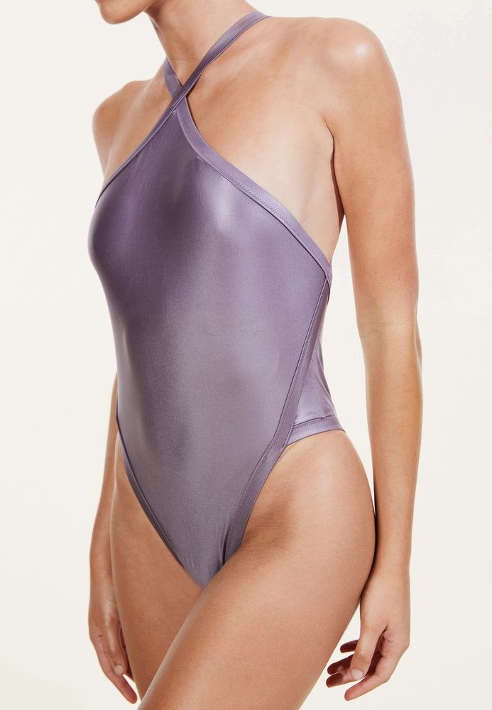 swimwear-perla-one-piece-bodysuit-high-neck-high-cut-legs-low-v-back-shiny-purple-color