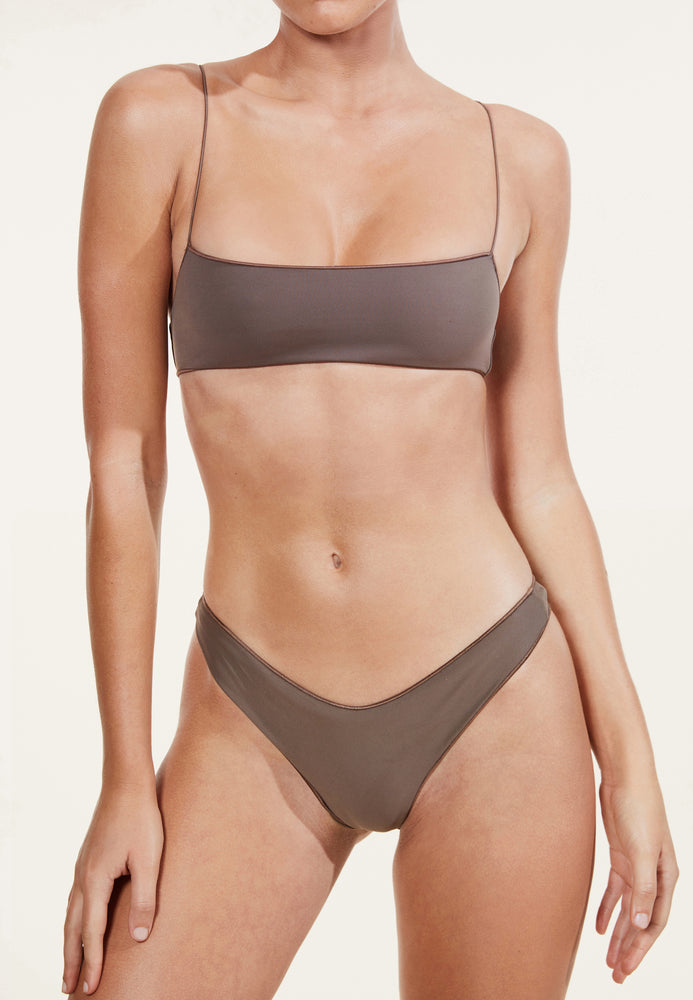 swimwear-the-C-bralette-two-piece-tube-top-low-scoop-neckline-skinny-elastic-straps-sustainable-fabric-eco-brown-color