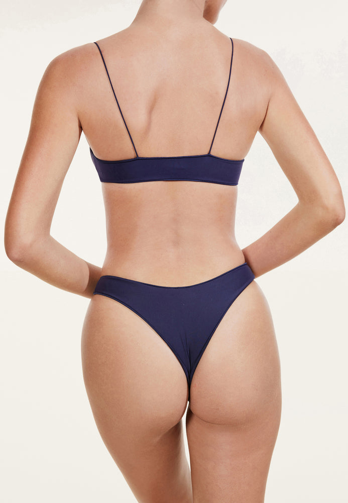 swimwear-the-C-bralette-two-piece-tube-top-low-scoop-neckline-skinny-elastic-straps-sustainable-fabric-eco-navy-color