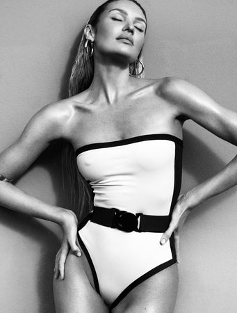swimwear-C90-strapless-one-piece-bodysuit-vintage-style-removable-belt-white-black-color