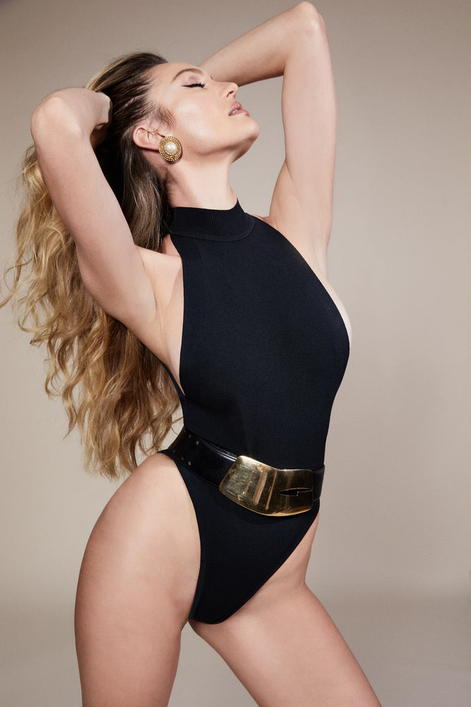 swimwear-roma-one-piece-bodysuit-classic-smart-knit-open-back-sustainable-zero-waste-button-closure-black-color