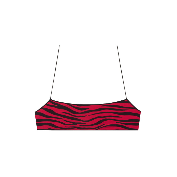 the C bralette in zebra hibiscus
