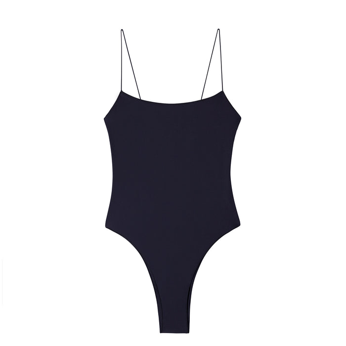 swimwear-the-C-one-piece-bodysuit-low-scoop-neckline-skinny-elastic-straps-high-cut-sustainable-fabric-eco-navy-color