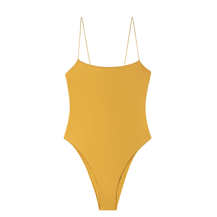 swimwear-the-C-one-piece-bodysuit-low-scoop-neckline-skinny-elastic-straps-high-cut-sustainable-fabric-eco-yellow-color