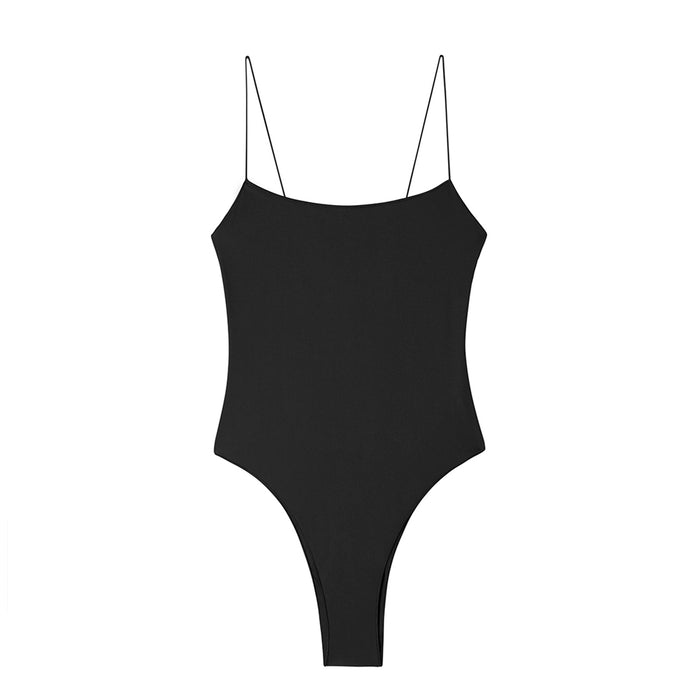 swimwear-the-C-one-piece-bodysuit-low-scoop-neckline-skinny-elastic-straps-high-cut-sustainable-fabric-eco-black-color