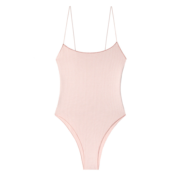 swimwear-the-C-one-piece-bodysuit-low-scoop-neckline-skinny-elastic-straps-high-cut-white-pink-check-color
