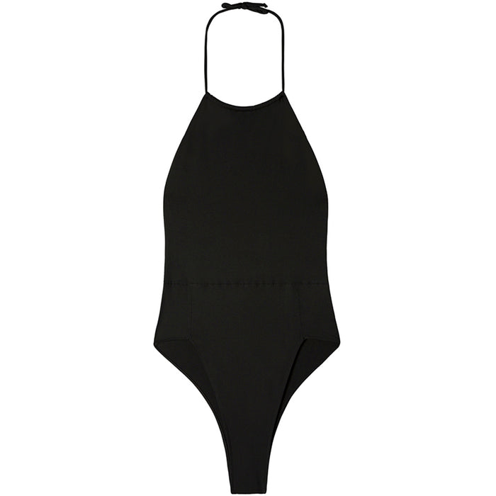 swimwear-eclipse-one-piece-bodysuit-classic-high-cut-leg-drawstring-belt-black-color