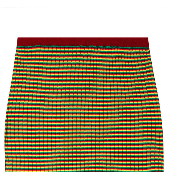 irie skirt in micro stripe red