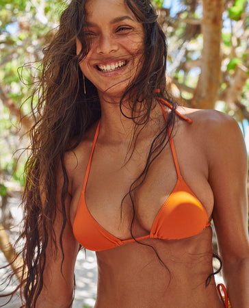 praia top in burnt orange