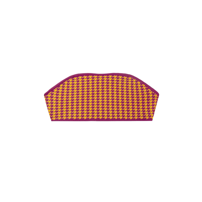 paraiso top in gold houndstooth