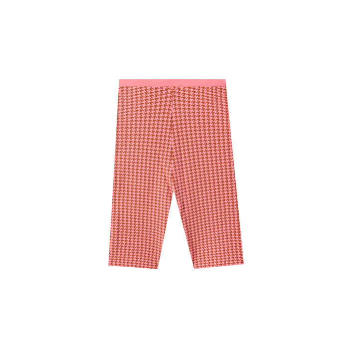 rumba short in pink houndstooth
