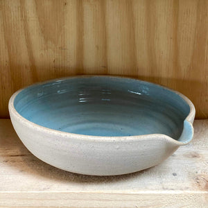 Pouring Bowl Shallow - Blue Glaze